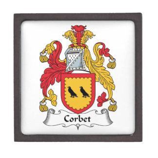 Escudo de la familia de Corbet Cajas De Recuerdo De Calidad