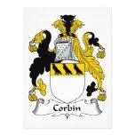 Escudo de la familia de Corbin Invitación