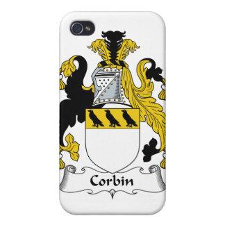 Escudo de la familia de Corbin iPhone 4 Carcasas