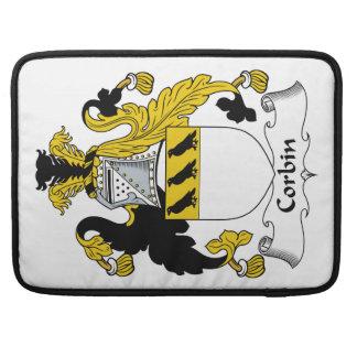 Escudo de la familia de Corbin Funda Para Macbook Pro