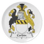 Escudo de la familia de Corbin Plato De Cena
