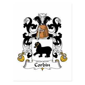 Escudo de la familia de Corbin Postal