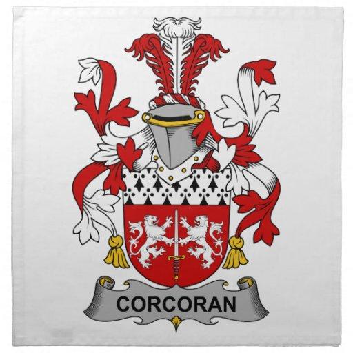 Escudo de la familia de Corcoran Servilletas Imprimidas