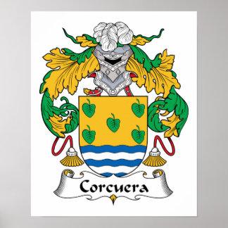 Escudo de la familia de Corcuera Posters