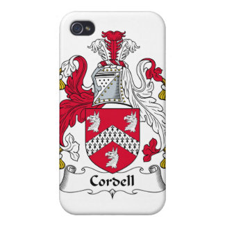 Escudo de la familia de Cordell iPhone 4 Carcasa