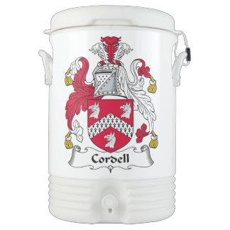 Escudo de la familia de Cordell Enfriador De Bebida Igloo
