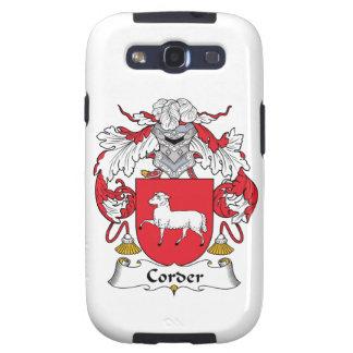 Escudo de la familia de Corder Galaxy S3 Cárcasa