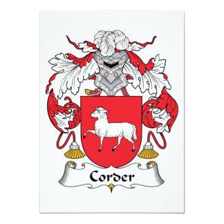 Escudo de la familia de Corder Comunicado Personalizado