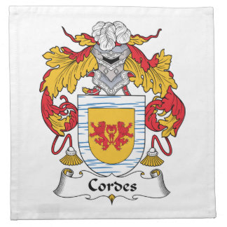 Escudo de la familia de Cordes Servilletas Imprimidas