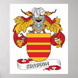 Escudo de la familia de Cordova Posters