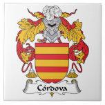 Escudo de la familia de Cordova Teja Ceramica