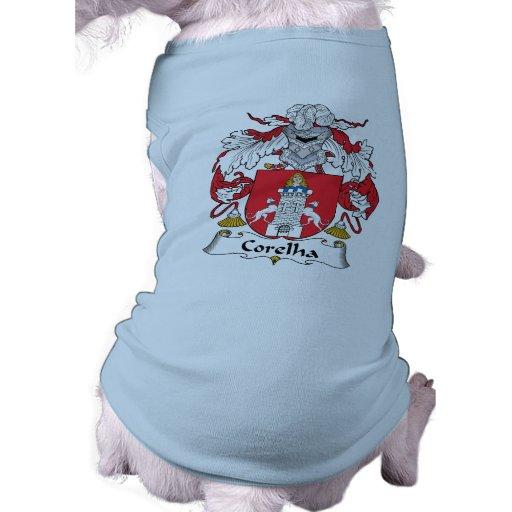 Escudo de la familia de Corelha Playera Sin Mangas Para Perro
