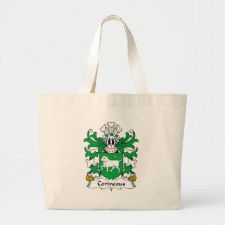 Escudo de la familia de Corineous Bolsa Tela Grande