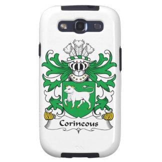 Escudo de la familia de Corineous Galaxy S3 Fundas