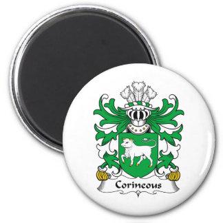 Escudo de la familia de Corineous Imán Redondo 5 Cm