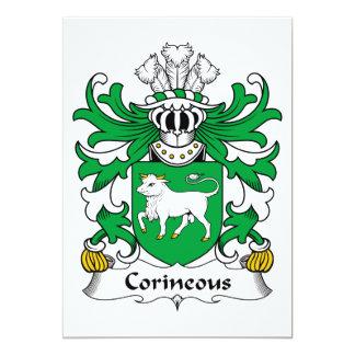"""Escudo de la familia de Corineous Invitación 5"""" X 7"""""""