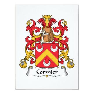 Escudo de la familia de Cormier Invitación 16,5 X 22,2 Cm