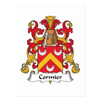 Escudo de la familia de Cormier Tarjetas Postales