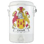 Escudo de la familia de Cornell Enfriador De Bebida Igloo