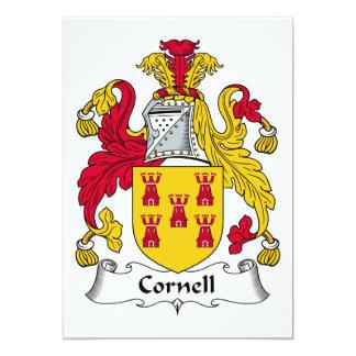 """Escudo de la familia de Cornell Invitación 5"""" X 7"""""""