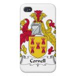 Escudo de la familia de Cornell iPhone 4 Carcasas