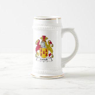 Escudo de la familia de Cornell Jarra De Cerveza