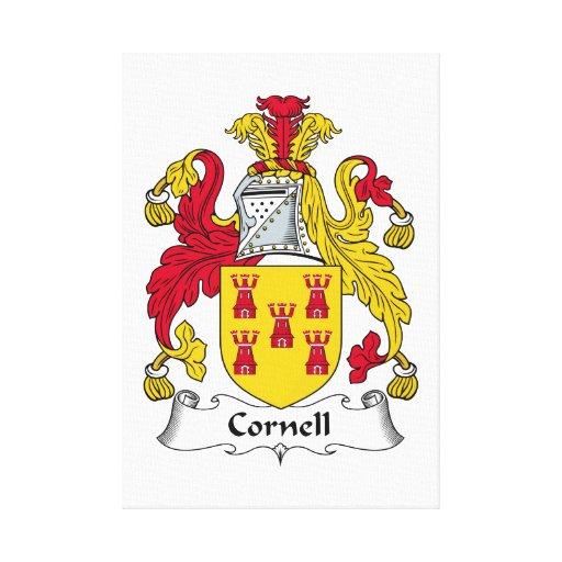 Escudo de la familia de Cornell Lienzo Envuelto Para Galerías