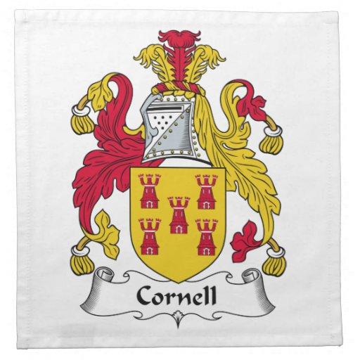 Escudo de la familia de Cornell Servilleta