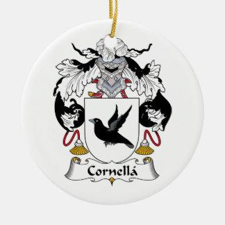 Escudo de la familia de Cornella Adorno Navideño Redondo De Cerámica