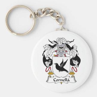 Escudo de la familia de Cornella Llavero Redondo Tipo Pin