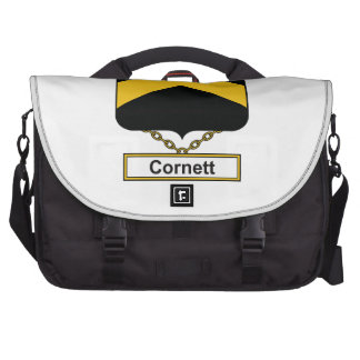 Escudo de la familia de Cornett Bolsas Para Portatil