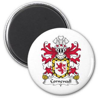 Escudo de la familia de Cornewall Imán Redondo 5 Cm