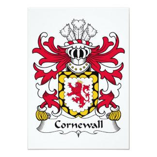 """Escudo de la familia de Cornewall Invitación 5"""" X 7"""""""
