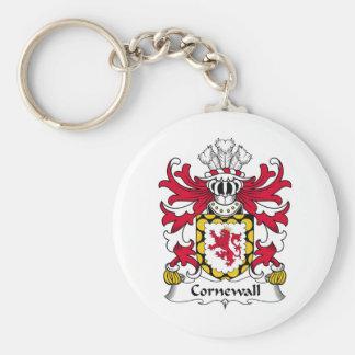 Escudo de la familia de Cornewall Llavero Redondo Tipo Pin