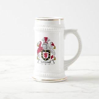Escudo de la familia de Cornualles Jarra De Cerveza
