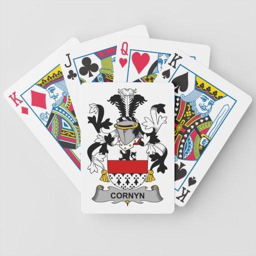 Escudo de la familia de Cornyn Baraja Cartas De Poker