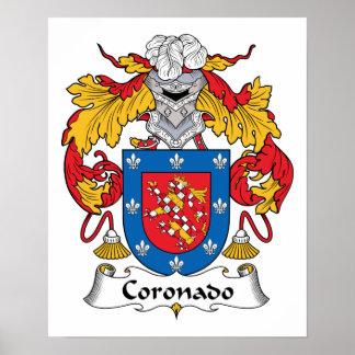 Escudo de la familia de Coronado Impresiones