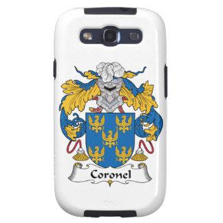 Escudo de la familia de Coronel Samsung Galaxy S3 Cobertura