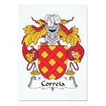 Escudo de la familia de Correia Invitación 12,7 X 17,8 Cm