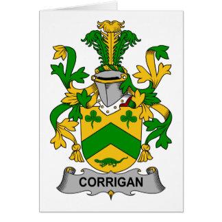 Escudo de la familia de Corrigan Tarjeta De Felicitación