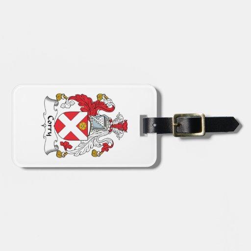 Escudo de la familia de Corry Etiquetas Maletas