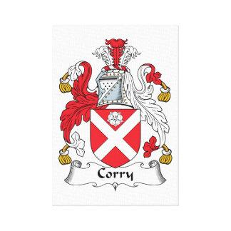 Escudo de la familia de Corry Impresiones En Lona Estiradas