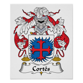 Escudo de la familia de Cortes Impresiones