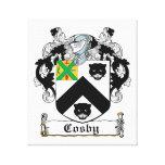 Escudo de la familia de Cosby Impresiones En Lona