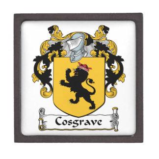 Escudo de la familia de Cosgrave Cajas De Joyas De Calidad