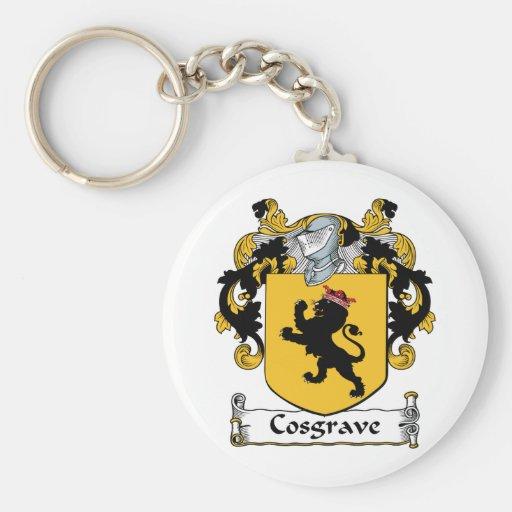 Escudo de la familia de Cosgrave Llavero Redondo Tipo Pin