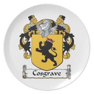 Escudo de la familia de Cosgrave Plato Para Fiesta