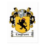 Escudo de la familia de Cosgrave Postal