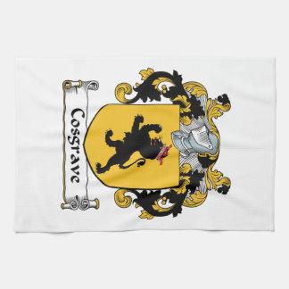 Escudo de la familia de Cosgrave Toalla