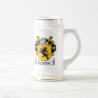 Escudo de la familia de Cosgrove Jarra De Cerveza